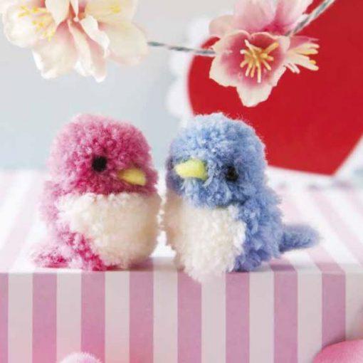 Pocket Pompom Birds by Sachiyo Ishii