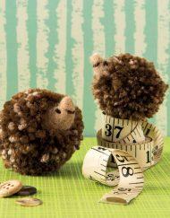Pocket Pompom Hedgehogs by Sachiyo Ishii