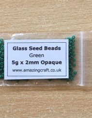 Glass Seed Beads Eyes - Green Pack