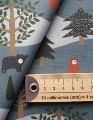 Sewing Sanctuary Cotton Fabric - Bear Land Green