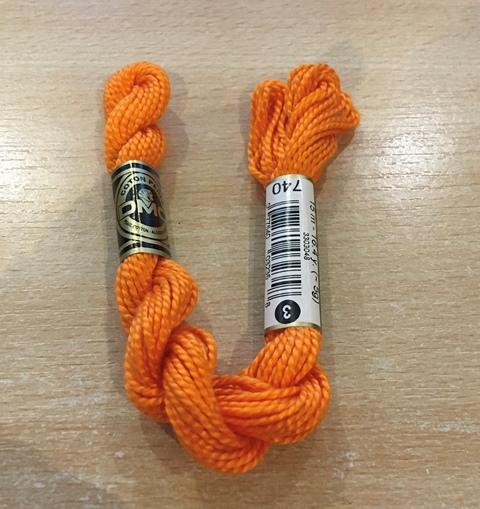 DMC Cotton Perle Thread 3 Orange 740