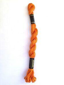 DMC Cotton Perle Thread Skein Orange 740