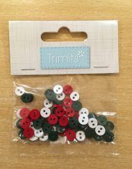 Trimits Mini Buttons - Christmas Colours