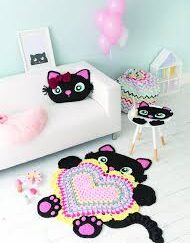 Crochet Animal Rugs - cat