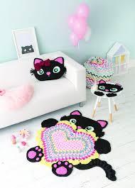 Crochet Animal Rugs - cat