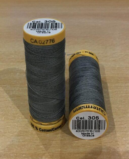 Gutermann Cotton Sewing Thread 305 Slate Grey