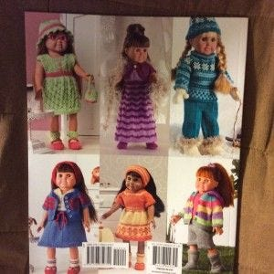 Sassy Knit Outfits for 18 Inch dolls