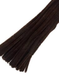 30cm chenille pipe cleaners brown