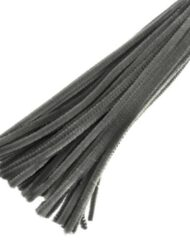 30cm chenille pipe cleaners grey