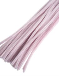 30cm chenille pipe cleaners pink