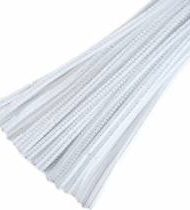 30cm chenille pipe cleaners white