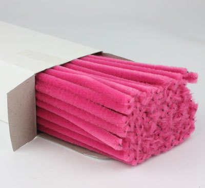 30cm Chenille Pipe Cleaners Bright Pink