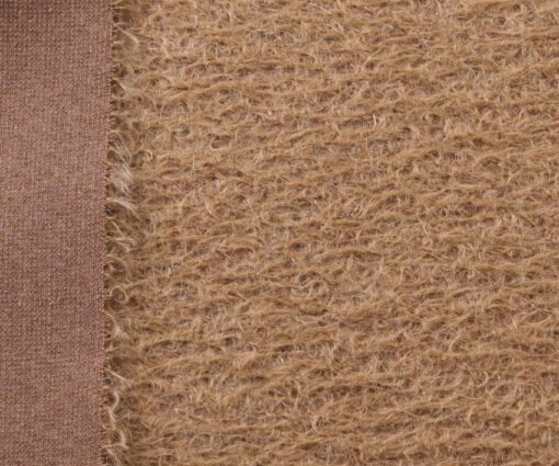 Helmbold Mohair 12mm Sparse - Fawn on Brown