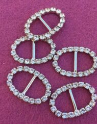Mini oval diamante buckles