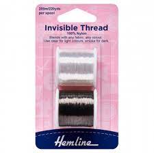 Hemline Invisible Thread Double Pack